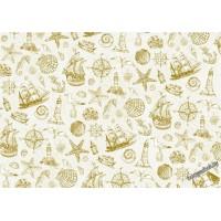 Пленка с золотым рисунком для шейкеров, разделителей и декора.