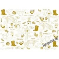 Пленка с золотым рисунком для шейкеров, разделителей и декора My Gardening