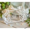Чипборд Рамка с решеткой и цветами