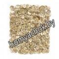 Пайетки голографические 9 мм, 15 г - цвет светло-золотой
