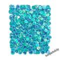 Пайетки 9мм, 15гр - цвет голубой