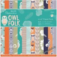 Набор бумаги для скрапбукинга Owl Folk, 15*15см