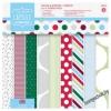 Набор бумаги для скрапбукинга Spots & Stripes Festive, 15*15см, 16 листов