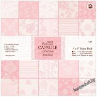 Набор бумаги для скрапбукинга Wild Rose, 15*15см