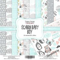 "Набор скрапбумаги ""Scandi Baby Boy"", 20x20см"