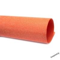 Фоамиран глиттерный перламутровый 2мм 20х30 см оранжевый