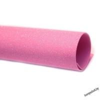 Фоамиран глиттерный перламутровый 2мм 20х30 см светло-розовый