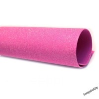 Фоамиран глиттерный перламутровый 2мм 20х30 см темно-розовый