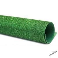 Фоамиран 2 мм с глиттером 20х30 см светло-зеленый