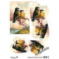 """Набор для создания открытки 3D """"Пара птичек"""""""