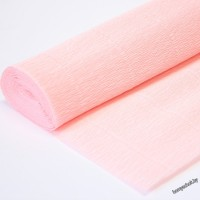 Бумага гофрированная простая 548 светло-персиковая, 180гр, 2,5м