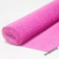 Бумага гофрированная простая 550 розовый, 180гр