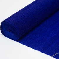 Бумага гофрированная простая 555 темно-синяя, 180гр, 2,5м