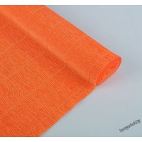 Бумага гофрированная простая 17E/6 ярко-оранжевая, 180гр, 2,5м