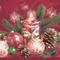 Новогодняя квадратная свеча