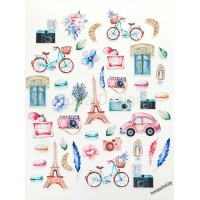 Набор высечек Однажды в Париже 43 элемента
