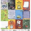 Лист бумаги -карточки School, 30*30см