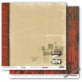 Бумага для скрапбукинга 30,5х30,5 см 190 гр/м, двусторон Архив Моменты