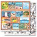 Бумага для скрапбукинга 30,5х30,5 см 190 гр/м, двусторон Средиземноморье Карточки 1