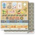Бумага для скрапбукинга 30,5х30,5 см 190 гр/м, двусторон Средиземноморье Карточки 2