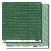 Бумага для скрапбукинга 30,5х30,5 см 180 гр/м - Зимние песни