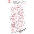 Ацетатные высеченные слова c фольгированием (Pink) 12шт от Scrapmir