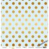 Лист односторонней бумаги с золотым тиснением 30x30 Golden Dots Blue от Scrapmir Every Day Gold
