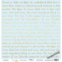 Лист односторонней бумаги с золотым тиснением 30x30 Golden Script Blue от Scrapmir Every Day Gold