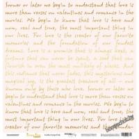 Лист односторонней бумаги с золотым тиснением 30x30 Golden Script Pink от Scrapmir Every Day Gold