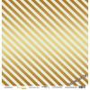 Лист односторонней бумаги с золотым тиснением 30x30 Golden Stripes Blue от Scrapmir Every Day Gold