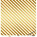 Лист односторонней бумаги с золотым тиснением 30x30 Golden Stripes Mint от Scrapmir Every Day Gold