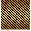 Лист односторонней бумаги с золотым тиснением 30x30 Golden Stripes Black от Scrapmir Every Day Gold