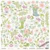 Лист односторонней бумаги для вырезания 30x30 от Scrapmir Цветы из коллекции Pur Pur