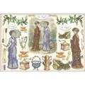 Бумага рисовая - Викторианские дамы и кофе