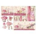 Бумага рисовая - Розовый дом