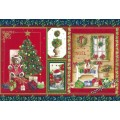 Бумага рисовая  - Рождественская ёлка, подарки
