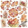 Салфетка рисовая - Желтые и красные розы