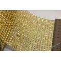 Полотно для страз и декора (пластик) , ширина 12см(24 точки), цвет золотой