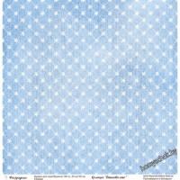 Бумага для скрапбукинга, одностор,Джинсовое лето 6,30*30см, 190гр/м